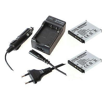 2x Akku und Ladegerät für Kodak EasyShare M320 M763 M863 M893 IS