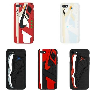 Nike Jordan 1's 11's Bred Space Jam 3D iPhone X 6 6s 7 8 Plus Case - US Seller](Space Character)