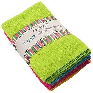 4Pcs Absorbent Microfibre Kitchen Tea Towels Dish Drying Cleaning towel Cloth