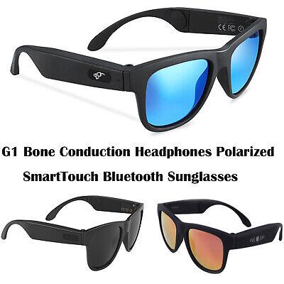 G1 Polarized Bone Conduction SmartTouch Headphones Headset Bluetooth Sunglasses