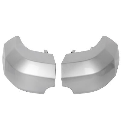 Bumper End Caps For 2007-2014 Toyota FJ Cruiser Set of 2 Rear Painted Silver