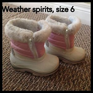 Toddler snow boots size 6