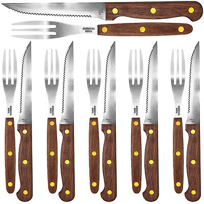 12tlg Kesper Steakmesser Set Fleischmesser Grillbesteck Steak Besteck Messer NEU (Steak Fleisch)