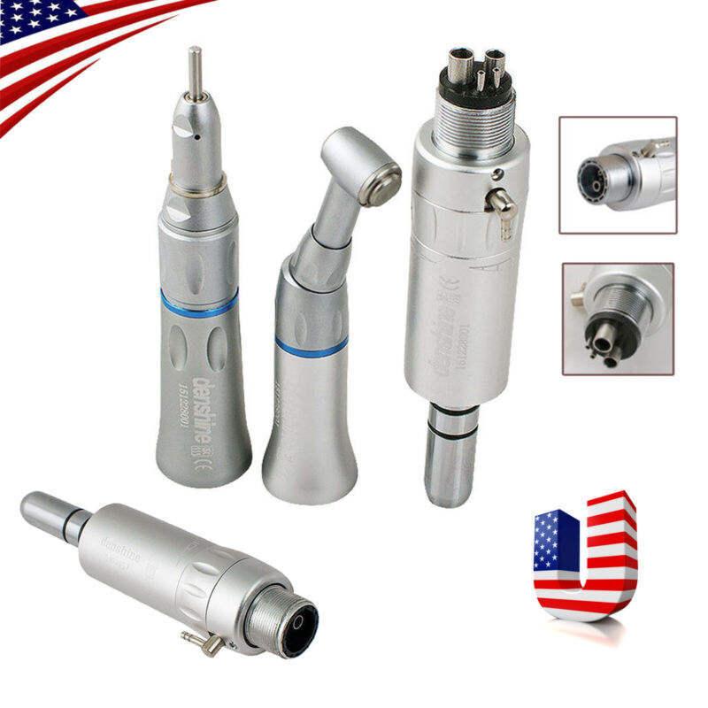 Dental Slow Low Speed Handpiece Contra Angle Straight Air Motor 2/4 Hole E-Type
