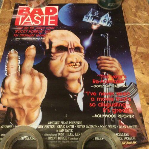 BAD TASTE RARE   SMALLER  PROMO POSTER  SEE PICS  ANY DAMAGE