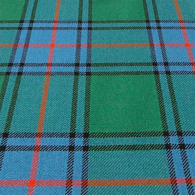Heavy Weight Material 16oz Fabric Shaw Green Ancient Tartan 1 Metre Shaw Ancient Tartan