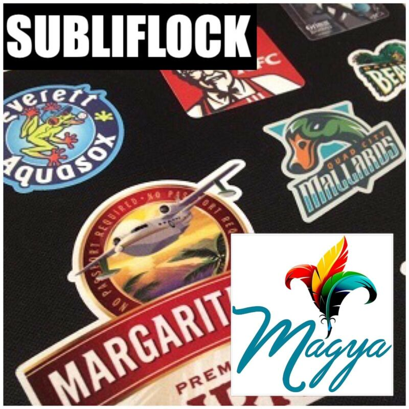 "Subli-Flock Sublimation Transfer Media 10 Sh 8.5""x11"" pack SUBLIFLOCK Made In US"