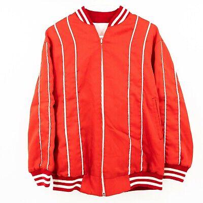 Vintage Reversible Track Jacket Bomber Color Block Windbreaker Red White Medium Reversible Block