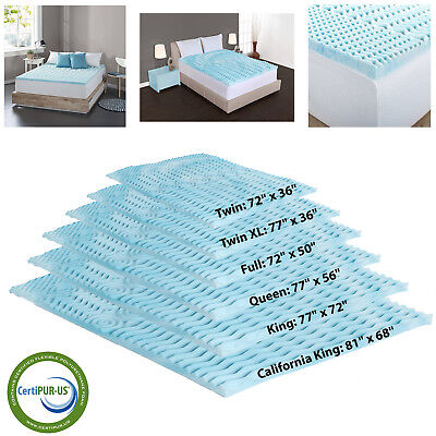 Foam Mattress Bed Pad - Orthopedic Bed Pad 5-Zone Authentic Comfort 2-Inch Foam Mattress Topper 6 Sizes