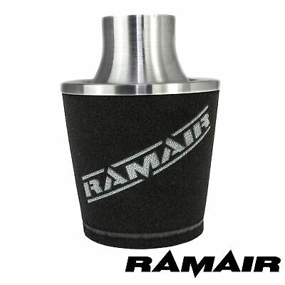 Silver Ramair Aluminium Induction Air Filter Universal 80Mm Od Neck New