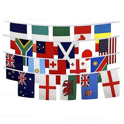 9m Fabric Large Rugby Football World Cup Bunting Party Decorations 20 Flags Pub
