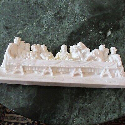 Vintage Last Supper Figurine Alabaster/Resin 14 Inch Mexico