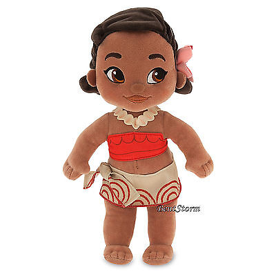 "Disney Store Exclusive Animators 12"" Princess Moana Plush Toddler Toy Doll NEW"
