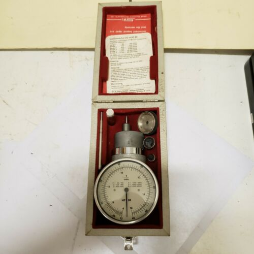 Horn HT 80 Handheld Portable Tachometer 0-40,000 RPM With Accessories in Case