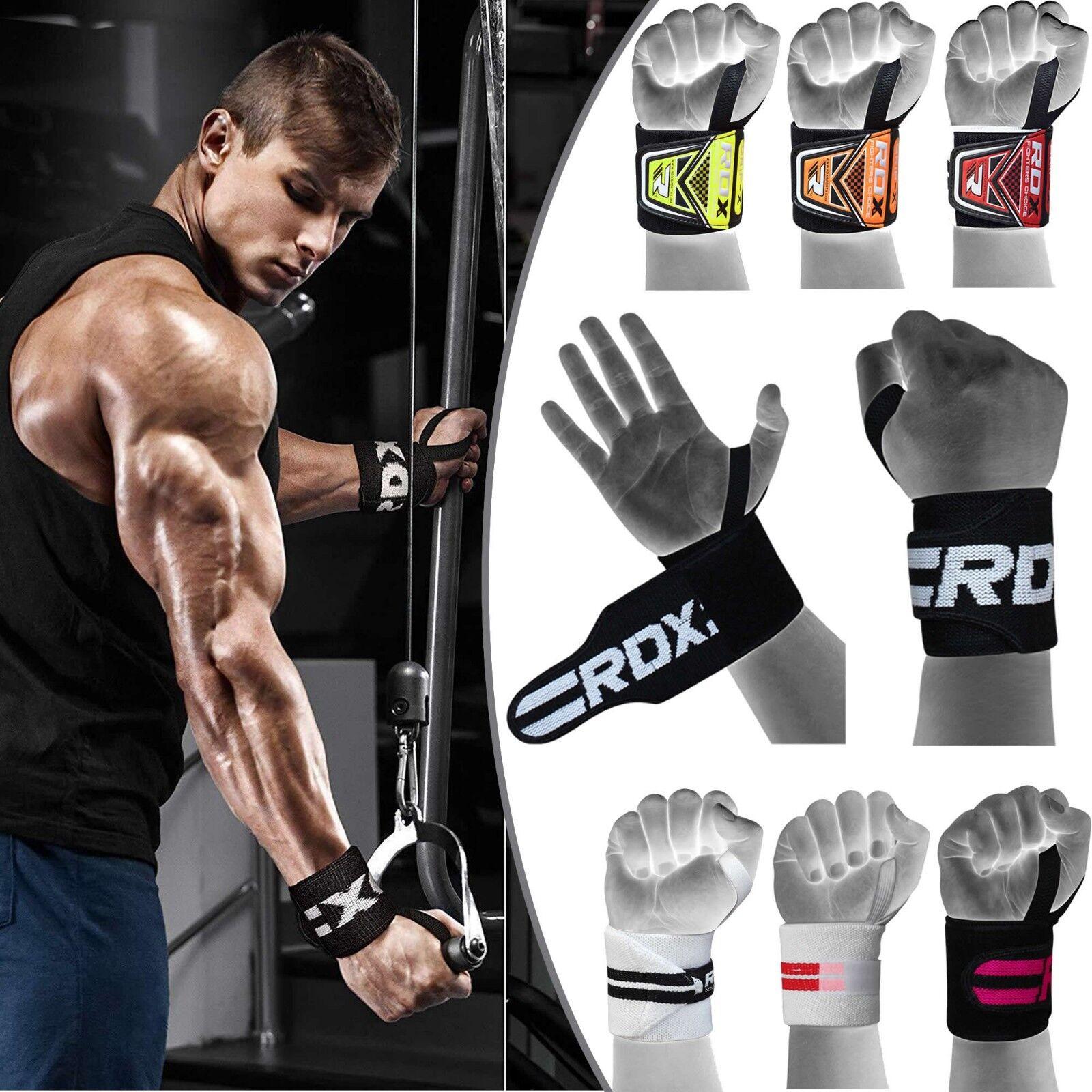 RDX Handgelenkbandage Zughilfe Bodybuilding Fitness Handschuhe Krafttraining DE