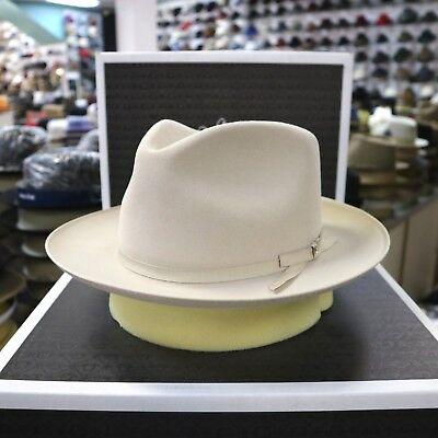 STETSON STRATOLINER SILVERBELLY FUR FELT C-CROWN DRESS HAT