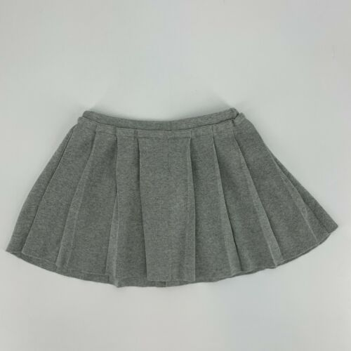 J.Crew Crewcuts Girls Pleated Skirt Size 3 Gray NEW Pull On Cotton Knit