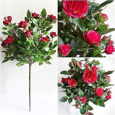 e rot 53 cm Kunstbaum künstlicher Baum Dekobaum Kunstpflanze (Künstliche Rote Rosen)
