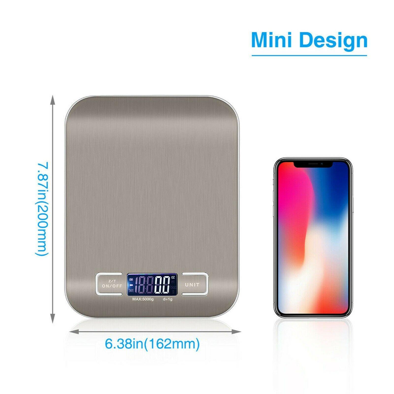 Digital Kitchen Weight Scale Stainless Steel Food Diet Posta