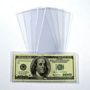 20-Superior-Grade-MODERN-Currency-Sleeves-PVC-FREE