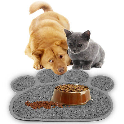 2X Premium Quality Pet Food and Water Bowl Feeding Mat for Dogs Cats and Puppies