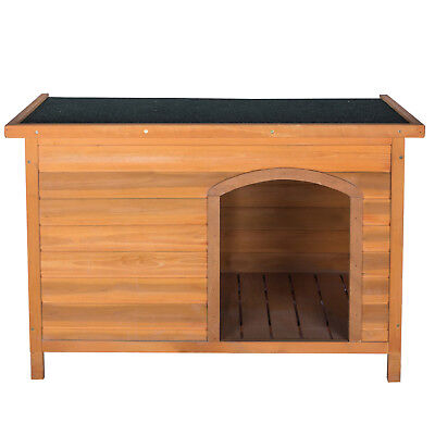 Large Wood Dog House Pet Shelter Weather Cage Waterproof Kennel Outdoor Dog Bed