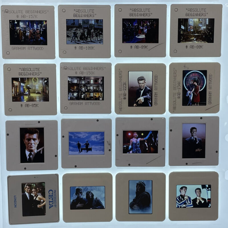 Absolute Beginners Movie 35mm Slides David Bowie Press Kit Promo Vtg Lot of 16