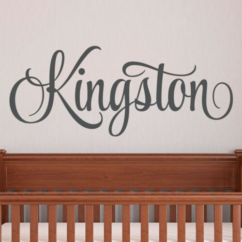 Personalized Boys Name Wall Decal Custom Baby Boy Nursery Wall Decal Sticker