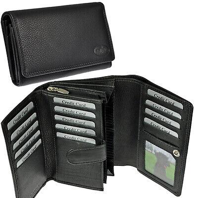 AMARI XXL Damen Portemonnaie mit RFID-Blocker 28 Fächer Geldbörse Geldtasche