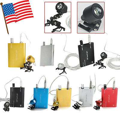 Usa Dental Surgical Clip Led Head Light Lamp Headlight For Binocular Loupes Fda