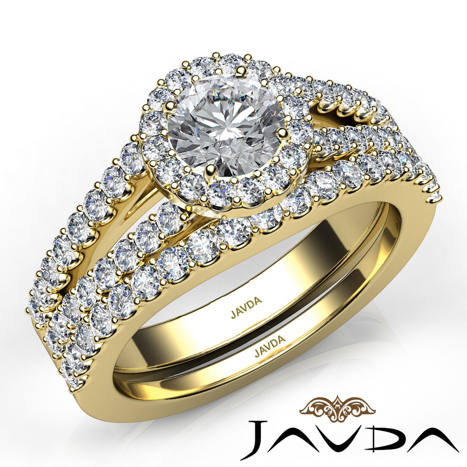 1.85ctw Luxurious Wedding Bridal Round Diamond Engagement Ring GIA G-VVS1 W Gold 9
