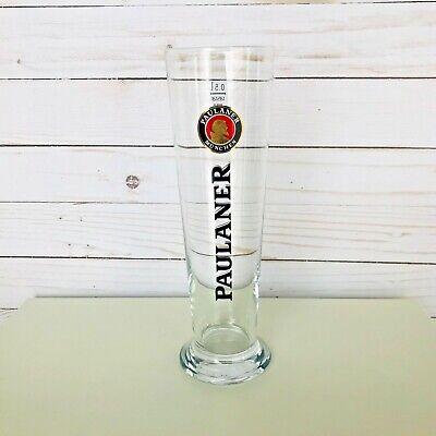 TALL BEER GLASS .5 LITER Paulaner Munchen