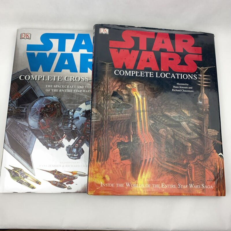 Set of 2 Star Wars DK Complete Books - Locations & Cross-Sections