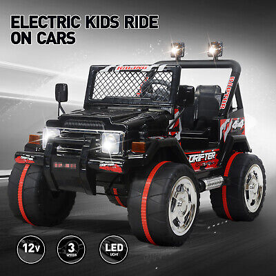 Kids Toy Jeep Ride On Car 12V Electric Wheels Remote Control MP3 LED Light
