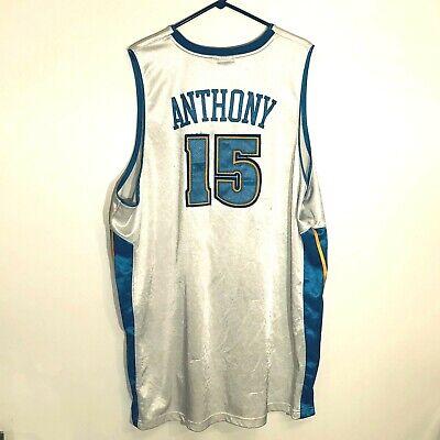 VTG Reebok Anthony Denver Nuggets #15 Jersey Stitched NBA White Size 56