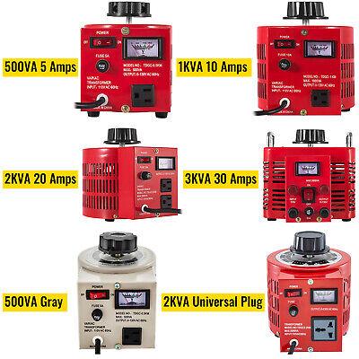 0.5123kva Variac Variable Transformer 0-130v Ac Voltage Regulator 5102030a