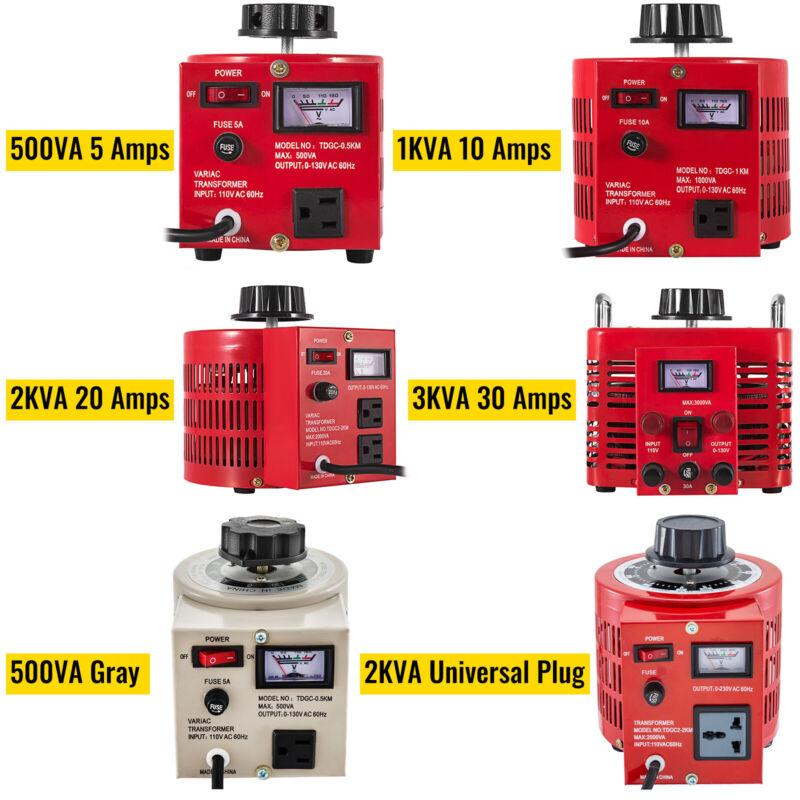 0.5/1/2/3KVA Variac Variable Transformer 0-130V AC Voltage Regulator 5/10/20/30A