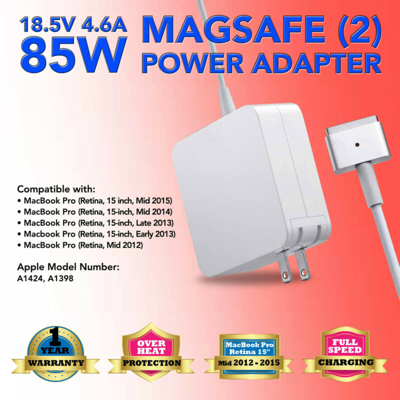 85W Power Adapter Charger for Apple MacBook Pro 15 inch Mid 2012 2013 2014 2015