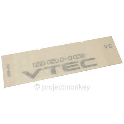 OEM Honda 92-96 Prelude Rear Trunk DOHC VTEC Decal Sticker Genuine Part USDM
