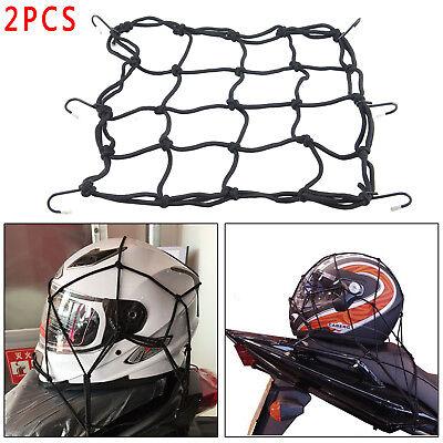 2x Équipement de vélo/moto en filet à bagages de moto élastique Noir 30 x 30 cm