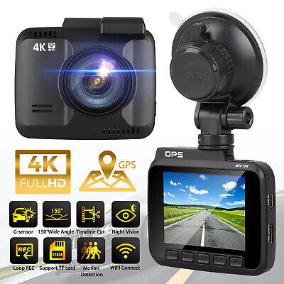 4K Ultra HD 2160P GPS Camera Rear Car DVR Dash Cam Video Rec