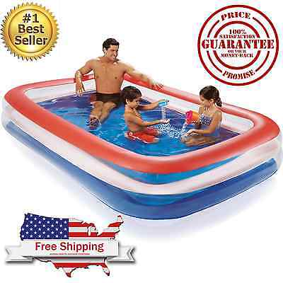 Inflatable Pool Family Water Fun Swimming 120 x 72 Childrens Outdoor Kids Play