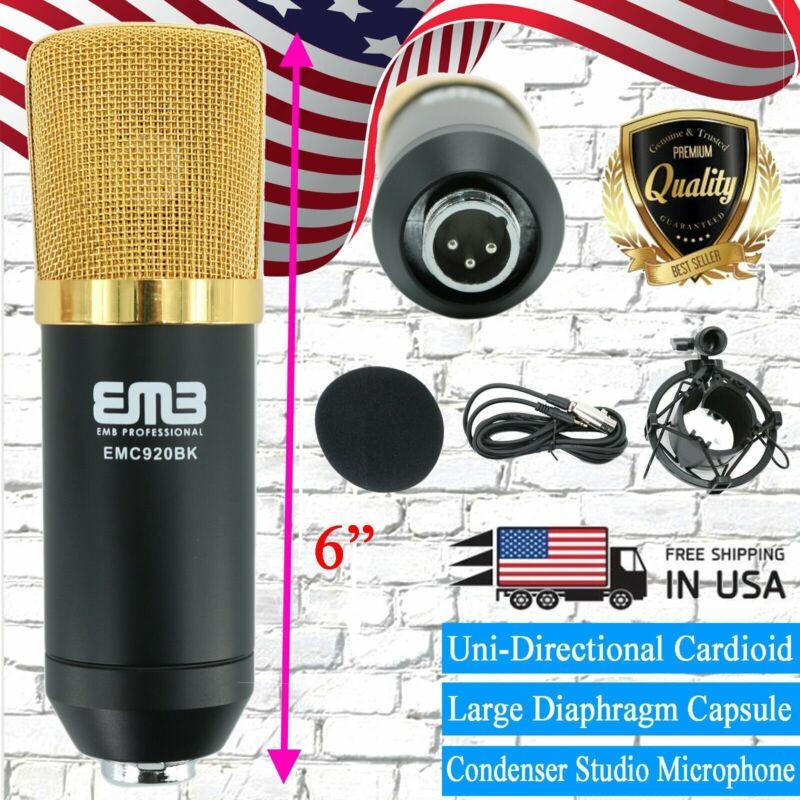 EMC920 Multi Pattern Recording Large Diaphragm Condenser Studio Microphone Black