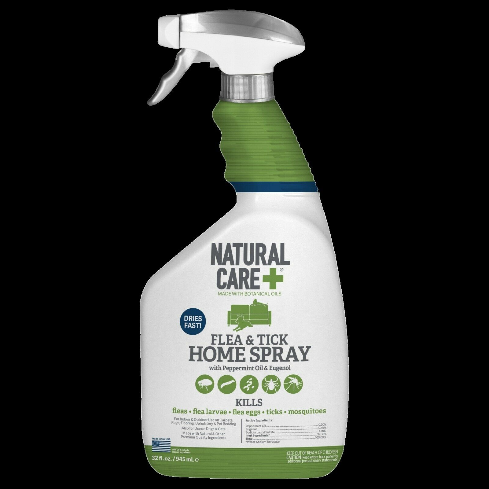 Natural Care 32 oz Flea and Tick Home Spray Best , New, FREE