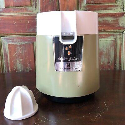 Vintage Kitchen Appliance Classic Green Webcor Electric Orange Juicer Works