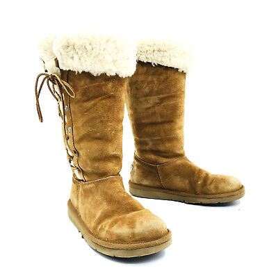 Ugg Australia Upside Chestnut Brown Winter Snow Boot Womens Size 7 for sale  Minneapolis