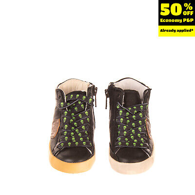 RRP €165 PHILIPPE MODEL Leather Sneakers EU 21 UK 4.5 US 5.5 Logo Made in Italy
