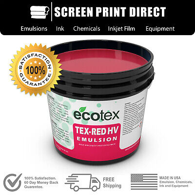 Ecotex Red Textile Pure Photopolymer Emulsion For Screen Printing - Pint 16oz