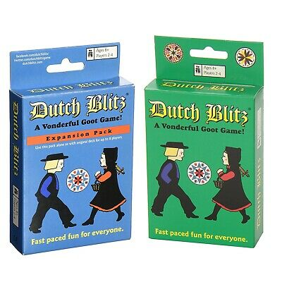 New Dutch Blitz Card Game Original AND Expansion Pack Combo Dutch Card Game