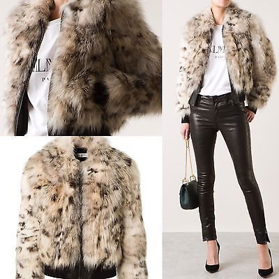 NWT $14.7K YVES SAINT LAURENT YSL REAL Coyote Fur Leather Jacket Sz S 6 RARE